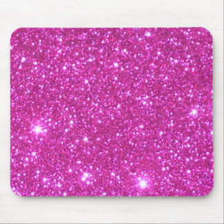 Pink Sparkle Sparkly Glitter Girly Girl Stuff Glam Mouse Pad