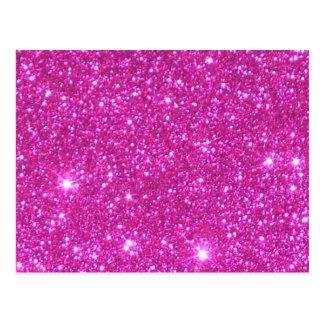 Pink Sparkle Sparkly Glitter Girly Girl Stuff Glam Postcard