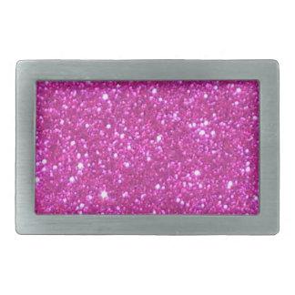 Pink Sparkle Sparkly Glitter Girly Girl Stuff Glam Rectangular Belt Buckle