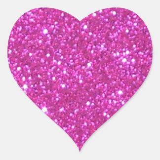 Pink Sparkle Sparkly Glitter Girly Girl Stuff Glam Heart Sticker