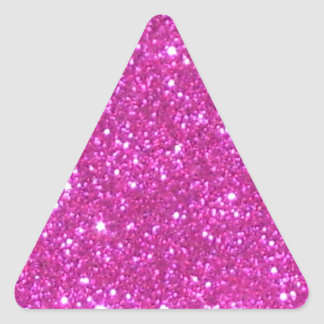 Pink Sparkle Sparkly Glitter Girly Girl Stuff Glam Triangle Sticker