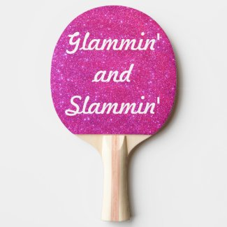 Pink Sparkle Sparkly Glitter Glam Glittery Sports Ping-Pong Paddle