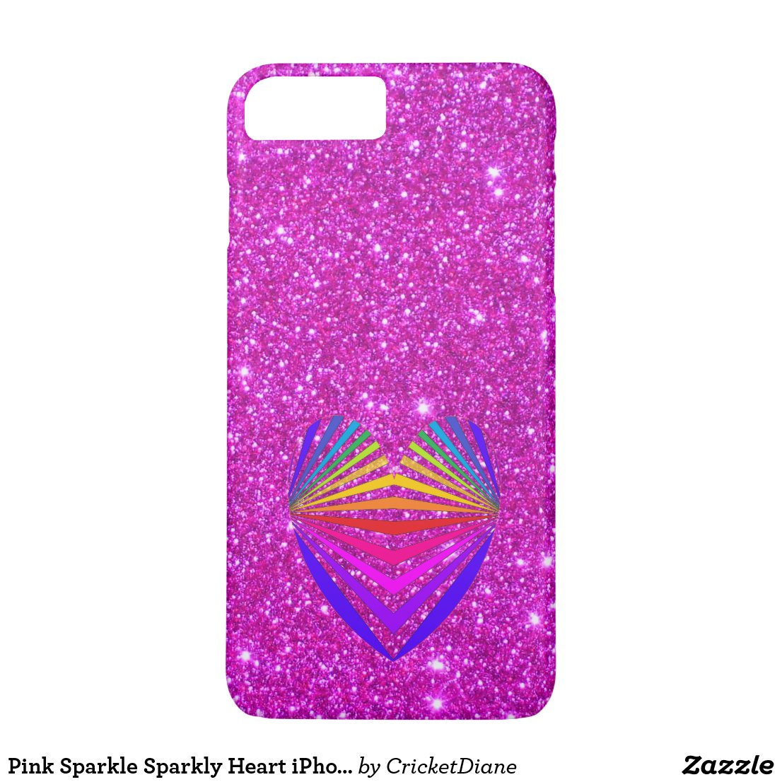 Pink Sparkle Sparkly Heart iPhone Case 2