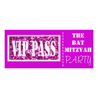 Pink sparkle VIP Bat Mitzvah party Personalized Invites