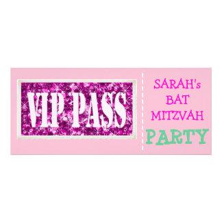 Pink sparkle VIP Bat Mitzvah party Custom Invitations