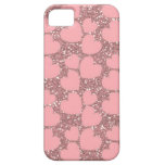 Pink Sparkle with Hearts iPhone 5 Covers
