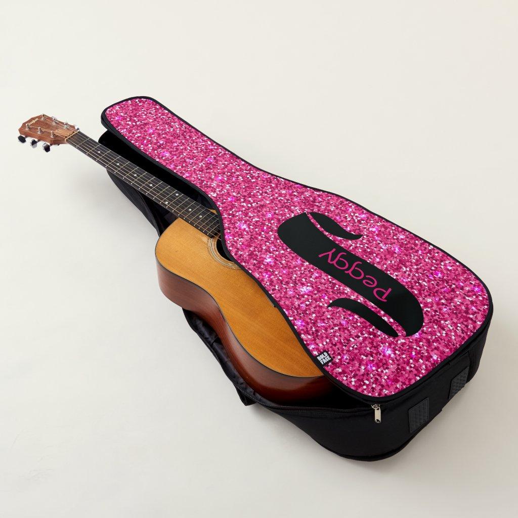 Pink Sparkles Guitar Bag