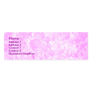 Pink Sparkles Profile Cards 01 Double-Sided Mini Business Cards (Pack Of 20)
