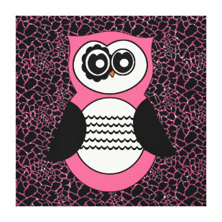 Pink Sparkles Retro Owl and Animal Print