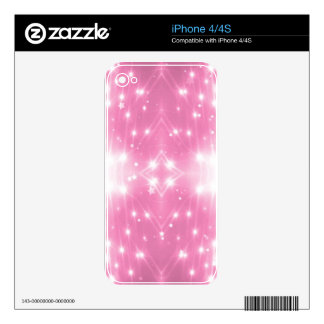 Pink Sparkling Kaleidasope Skin For The iPhone 4S