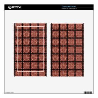 Pink Sparkling Squares Skins For Kindle Fire