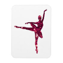 Pink Sparkly Ballerina Magnet