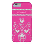 Pink Sparkly Diamond Tiara Hearts iPhone 6 case iPhone 6 Case