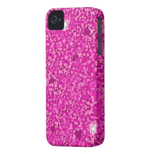 Pink sparkly hearts iphone 4 barely case iPhone 4 case