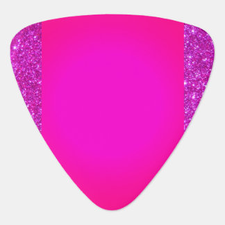 Pink Sparkly Hot Pink Rock n Roll Guitar Pick