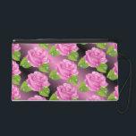 """Pink Sparkly Roses Pattern Wristlet<br><div class=""""desc"""">Pink Sparkly Roses Pattern</div>"""