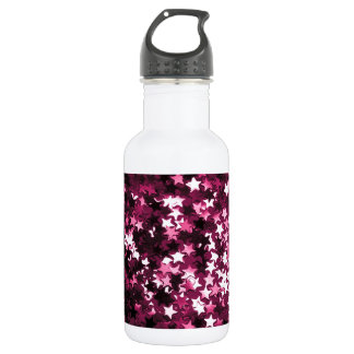 Pink Sparkly Stars Stainless Steel Water Bottle