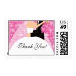 Pink Sparkly Thank You Bridal Shower Postage