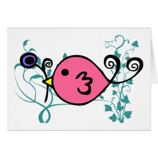 Pink Sparrow by Kristina Hansen Card