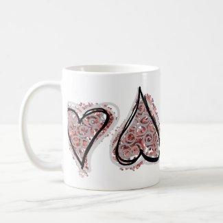 Pink Speckled Hearts Mug mug