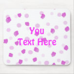 Pink Speckles Mouse Pad