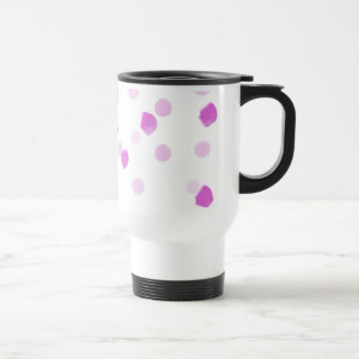 Pink Speckles Travel Mug