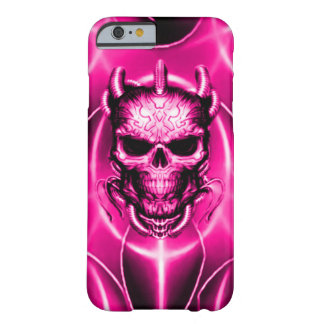 Pink Spectral Skull Barely There iPhone 6 Case
