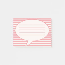 Pink Speech Bubble Post-it Notes