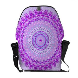 Pink Spice Mandala Kaleidoscope Courier Bag