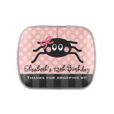 Pink Spider With Bow Party Favor Candy Tin at Zazzle