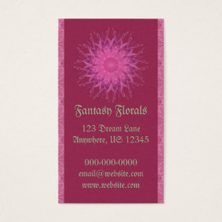 Pink Spinner Mandala Business Card