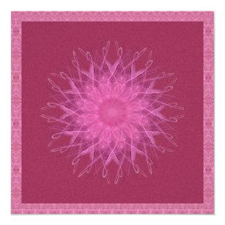 Pink Spinner Mandala 5.25x5.25 Square Paper Invitation Card