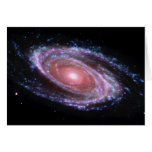 Pink Spiral Galaxy Card Cards