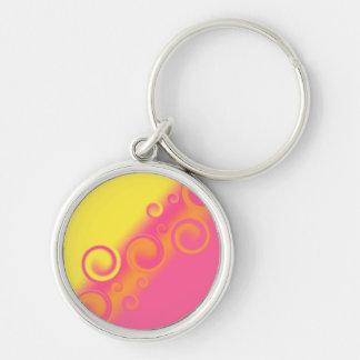 pink spiral Keychain