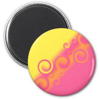 pink spiral Magnet