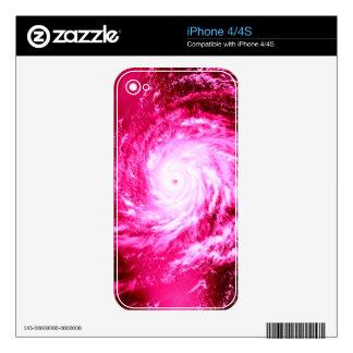 Pink Spiral Pinwheel Throw Pillow iPhone 4 Decal