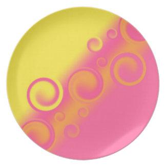 pink spiral Plate