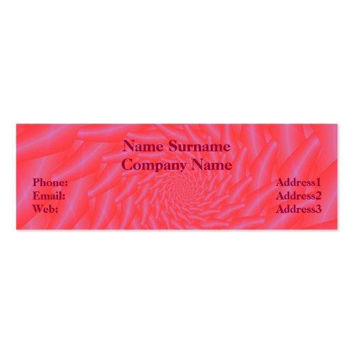 Pink Spiral Skinny Business Card