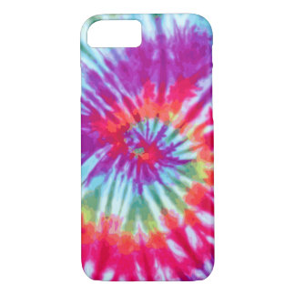 Pink Spiral Tie-Dye iPhone 7 case