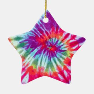 Pink Spiral Tie-Dye Ornament