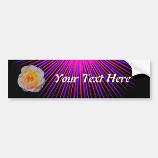 Pink Spirit Rose Car Bumper Sticker