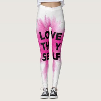 Pink Splash Love Thy Self Leggings