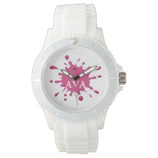 Pink Splash Wristwatch