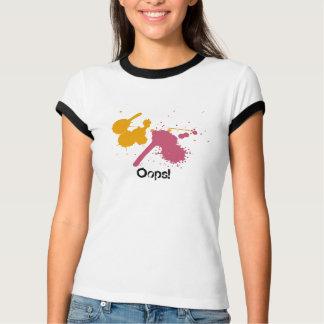 Pink-Splat, Orange-Splat, Oops! T-shirt