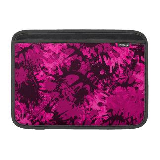 Pink Splattered Paint MacBook Air Sleeves