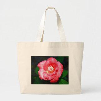 Pink splendor canvas bag