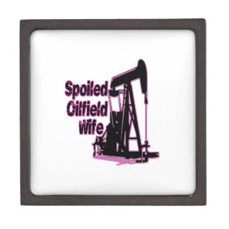 Pink Spoiled Oilfield Wife Premium Keepsake Boxes