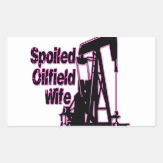 Pink Spoiled Oilfield Wife Rectangular Sticker