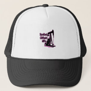 Pink Spoiled Oilfield Wife Trucker Hat