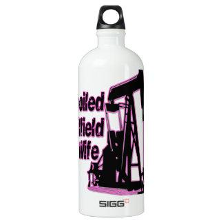 Pink Spoiled Oilfield Wife Water Bottle